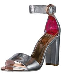 111e8af779f8c Lyst - Ted Baker Women's Secoa Leather Heeled Sandals in Metallic