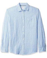 Amazon Essentials - Regular-fit Long-sleeve Gingham Linen Shirt - Lyst
