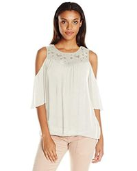 Ella Moss - Olivier Cold Shoulder Top, - Lyst