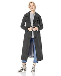 Calvin Klein - Maxi Length Wool Refer, With Wide Collar, - Lyst