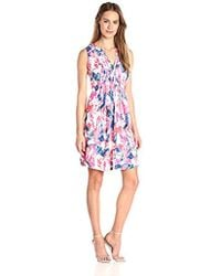 NYDJ - Lana Fit-and-flare Dress With Detachable Fit Solution - Lyst