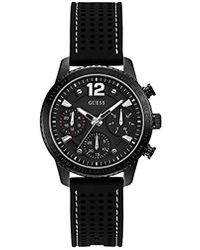 Guess - Stainless Steel Multifunction Silicone Casual Watch - Lyst