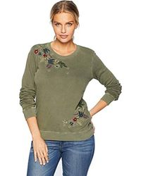 Lucky Brand - Embroidered Allover Flowers Pullover Sweatshirt - Lyst
