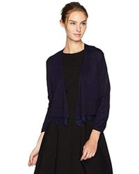 Tommy Hilfiger - Shrug With Lace Hem - Lyst