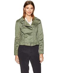 Cupcakes And Cashmere - Dixie Faux Suede Moto Jacket - Lyst