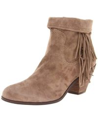 13f1164c230c96 Lyst - Sam Edelman Louie Fringe Ankle Boots - Tan in Brown