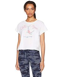 Sundry - Cropped Tee Cote D Azur - Lyst