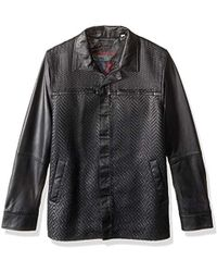 Robert Graham - Felstead Leather Shirt Jacket, - Lyst