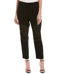 BCBGMAXAZRIA - Boa Mixed-media Pant - Lyst