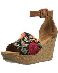 Kenneth Cole Reaction - Sole Quest Wedge Sandal, Floral, 8 M Us - Lyst