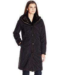 Ellen Tracy - Outerwear Reversible Faux Mink Storm Coat - Lyst