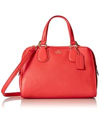 COACH - Refined Grain Leather Mini Nolita Satchel Handbag Light/watermelon - Lyst