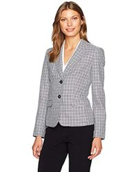 Nine West - 2 Button Piped Mini Houndstooth Jacket - Lyst