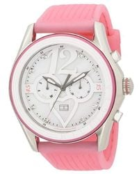 7d065af79 Tommy Hilfiger - 1780969 Sport Pink Silicon Mother Of Pearl Dial Watch -  Lyst
