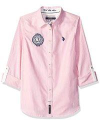 U.S. POLO ASSN. - Embellished Oxford Shirt - Lyst