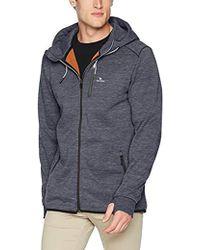 Rip Curl - Departed Anti Series Zip Up Hooded Fleece Sweatshirt - Lyst