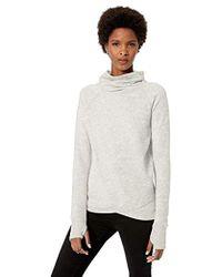 b308c60869351 Lyst - Athleta Cowl Lounge Sweatshirt Dress in Gray