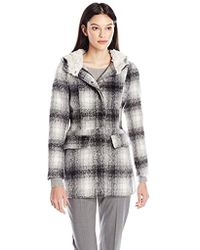Madden Girl - Wool Coat With Sherpa Lining - Lyst