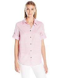 G.H.BASS - Lightweight Slub-stripe Shirt - Lyst