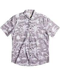 4ff99069b Lyst - Quiksilver 'mahina' Regular Fit Camp Shirt in Gray for Men