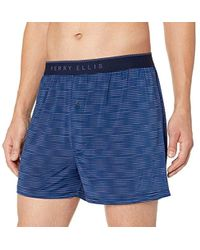 24822d68a7202b Perry Ellis Luxe Solid Boxer in Blue for Men - Lyst