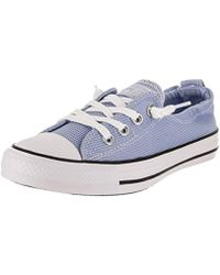 1b3cc4508feade Lyst - Converse Chuck Taylor All Star Shoreline Low Top Sneaker in White