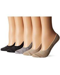 Steve Madden - Marl Footie Sock 5 Pack - Lyst