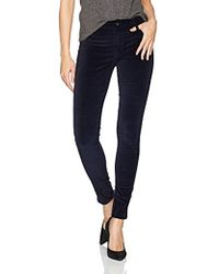James Jeans Twiggy Skinny Velveteen Pant In Dark Royal