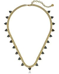 "Nicole Miller - Nmn12692 Trilliant Station Gold Chain Necklace, 20"" + 3"" Extender - Lyst"