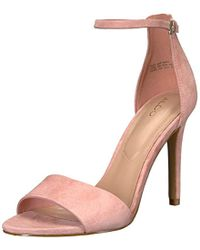 8e025ea6668 Lyst - ALDO Fiolla Sequin Ankle Strap Dress Sandals in Pink