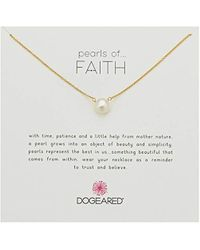 """Dogeared - Pearls Of Faith Large Button Necklace, Gold Filled, 16"""" + 2"""" Extension - Lyst"""