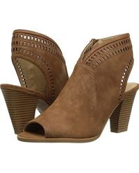 a30a801dc29 Lyst - CL By Chinese Laundry Bestie Peep Toe Bootie in Brown - Save 44%