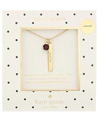 Kate Spade - January Garnet Pendant Necklace - Lyst