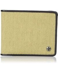 Lee Jeans - Canvas And Leather Billfold Rfid Blocking Wallet - Lyst