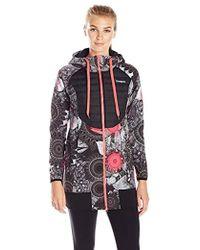 Desigual - Sport Long Coat Black Ville - Lyst