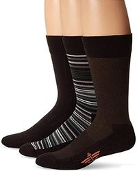 Dockers - 3 Pack Ultimate Fit - Elevated Dress Allover Stripe Crew Socks - Lyst