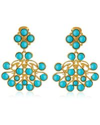 Kenneth Jay Lane - Gold-plated Cabochon Clip-on Earrings - Lyst