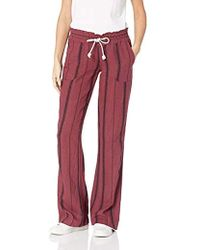 73cb29f39c Roxy 'oceanside' Beach Pants in Red - Lyst