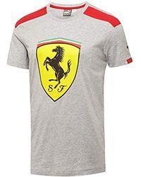 f65d5b4d2323ca PUMA Scuderia Ferrari Long Sleevetop in Black for Men - Lyst