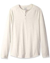 Amazon Essentials - Slim-fit Long-sleeve Henley Shirt - Lyst