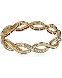 Napier - Gold-tone Twisted Stretch Bracelet, Gold - Lyst