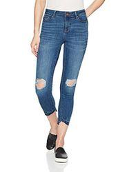 Vero Moda - Seven Uneven Fold Down Ankle Jeans - Lyst