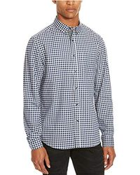 Kenneth Cole Reaction - Long Sleeve Check Shirt - Lyst