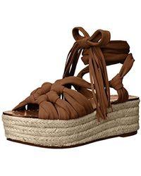 76035f889e8b Lyst - Sigerson Morrison Open Toe Platform Wedge Gladiator Sandals ...