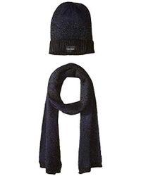 0792795e73f97 Calvin Klein - Lurex Sparkle beanie Muffler Two-piece Set - Lyst