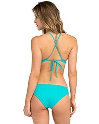 RVCA - Solid Cross Back Bikin Top - Lyst