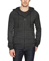 Calvin Klein - Jeans Long Sleeve Waffle Texture Full Zip Hoodie Sweater - Lyst