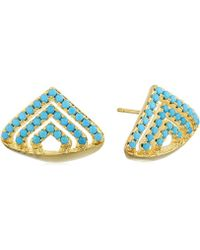 Noir Jewelry - Triangular Sedalife Stud Earrings - Lyst