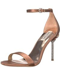Badgley Mischka - Vicia (black Satin) Women's Shoes - Lyst