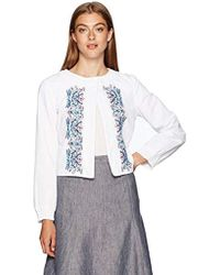 Nanette Nanette Lepore - Crop Jacket With Embroidery - Lyst